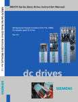 Siemens TW 703 Series Instruction manual