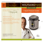 Wolfgang Puck BTOBR0040 Bistro collection Operating instructions
