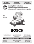 Bosch 3924-24 Operating instructions