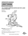 Craftsman 315.212010 Operator`s manual