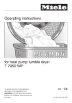 Miele T 7950 WP Operating instructions