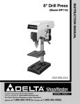 Delta DP115 Instruction manual