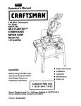 Craftsman 137.242760 Operator`s manual