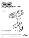 Craftsman 315.115240 Operator`s manual