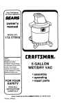 Craftsman 113.177810 Owner`s manual