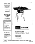 Craftsman 113.290600 Operating instructions