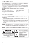 Sharp XG-NV2U Operation Instruction manual