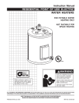 Reliance Water Heaters 184735-000 Instruction manual