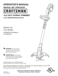 Craftsman 315.CR2000 Operator`s manual