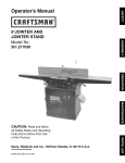 Craftsman 351.217030 Operator`s manual