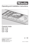 Operating and installation instructions Ceramic hobs CS