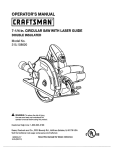 Craftsman 315.108620 Operator`s manual