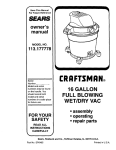 Craftsman 113.177778 Owner`s manual