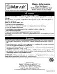 Marine Marvair SMM05ACP Installation manual