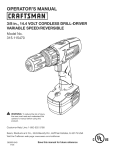 Craftsman 315.115470 Operator`s manual