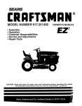 Craftsman EZ3 917.251492 Owner`s manual