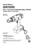 Craftsman 973.111401 Owner`s manual