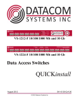 Datacom Systems VS-1212-F Specifications