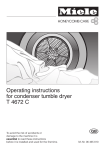 Miele T 4672 C Operating instructions
