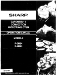 Sharp CAROUSEL II R-9H84 Specifications