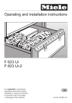 Miele F 623 Ui-2 Operating instructions