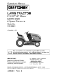 Craftsman 917.28921 Operator`s manual