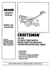 Craftsman 944.627592 Owner`s manual
