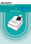 Sharp XE-A22H Instruction manual