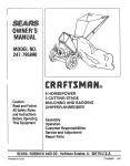 Craftsman 247.795890 Owner`s manual