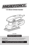 MasterForce 241-0794 Operator`s manual