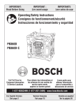 Bosch PB360D-C Specifications