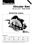 Makita 5007NB Instruction manual