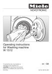 Miele W 1512 Operating instructions