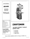 Craftsman 113.244401 Owner`s manual