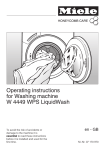 Miele W 4449 WPS LIQUIDWASH Operating instructions