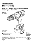 Craftsman 973.113451 Operator`s manual