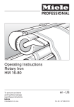 Miele HM 16-80 Operating instructions