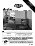 Enviro Boston 1700-C Insert Operating instructions