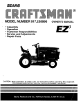 Craftsman EZ3 917.258990 Owner`s manual