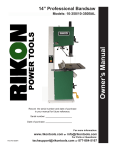 Rikon Power Tools 10-110E Owner`s manual