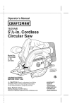 Craftsman 172.64120 Operator`s manual