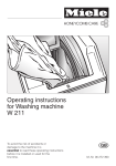 Miele W 211 Operating instructions