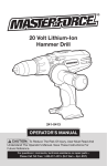 MasterForce 241-0413 Operator`s manual