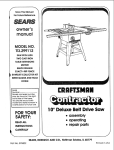 Craftsman 113.299112 Specifications