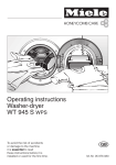 Miele W4840 - DRYER STAND Operating instructions