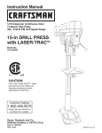 Craftsman 351.229000 Operating instructions