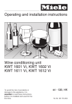 Operating and installation instructions Wine conditioning unit
