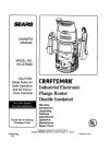 Craftsman 315.275062 Owner`s manual