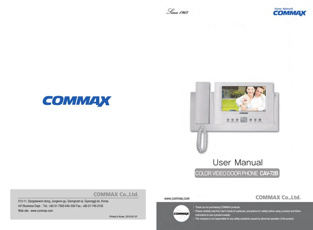 Commax CDT-180 User manual