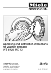 Miele WS 5425 MC 13 Operating instructions